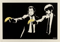 Banksy (b. 1974) Pulp Fiction, 2003 Screenprint in colors on paper 19-1/8 x 27-1/2 inches (48.6 x