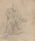 Works on Paper, Rembrandt van Rijn (Dutch, 1606-1669). St. Peter in penitence, 1645. Etching on laid paper. 5 x 4-3/8 inches (12.7 x 11....