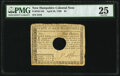 Colonial Notes:New Hampshire, New Hampshire April 29, 1780 $4 PMG Very Fine 25.. ...