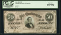 Confederate Notes:1864 Issues, T66 $50 1864 PF-3 Cr. 497 PCGS Gem New 65PPQ.. ...