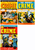 Memorabilia:Miscellaneous, The Perfect Crime Cover Proofs Production Group of 3 (Cross).... (Total: 3 Items)