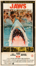 Movie Posters:Horror, Jaws (Universal, 1975). Folded, Fine/Very Fine. In...