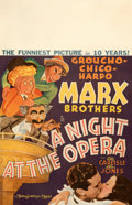 """Movie Posters:Comedy, A Night at the Opera (MGM, 1935). Fine on Cardstock. Window Card (14"""" X 22"""") Al Hirschfeld Artwork.. ..."""