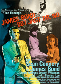 "Dr. No (United Artists, 1962). Fine/Very Fine on Linen. Full-Bleed German A1 (23.75"" X 33""). James Bond"