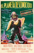 Movie Posters:Science Fiction, Forbidden Planet (MGM, 1956). Fine on Linen. Argen...