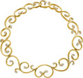 Estate Jewelry:Necklaces, Diamond, Gold Necklace, Angela Cummings. ...