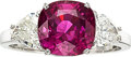 Estate Jewelry:Rings, Ceylon Pink Sapphire, Diamond, White Gold Ring . ...
