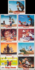"""Movie Posters:Animation, Song of the South (Buena Vista, R-1972). Very Fine/Near Mint. Lobby Card Set of 9 (11"""" X 14"""") Paul Wenzel Title Card Artwork... (Total: 9 Items)"""