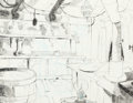 Animation Art:Concept Art, Scooby-Doo, Where Are You? Scooby-Doo and Shaggy Pirate Kitchen Concept Art (Hanna-Barbera, c. 1970s)....