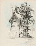 Animation Art:Concept Art, The Prince and the Pauper Concept Art Signed by Alvaro Arce (Walt Disney, 1989)....