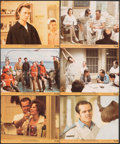 "Movie Posters:Academy Award Winners, One Flew Over the Cuckoo's Nest & Other Lot (United Artists, 1975). Overall: Fine/Very Fine. Mini Lobby Cards (6) (8"" X 10"")... (Total: 7 Items)"