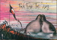 """Pink Floyd: The Wall (MGM, 1982). Folded, Very Fine. Poster (30"""" X 40"""") Gerald Scarfe Artwork. Rock and Roll..."""