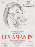 "Movie Posters:Foreign, The Lovers (Images, R-1967). Folded, Very Fine-. French Moyenne (23.5"" X 31.5"") Georges Allard Artwork. Foreign.. ..."