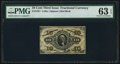 Fractional Currency:Third Issue, Fr. 1251 10¢ Third Issue PMG Choice Uncirculated 63 EPQ.. ...