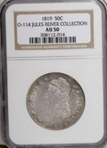 Bust Half Dollars, 1819 50C AU50 NGC. O-114. Ex: Jules Reiver Collection. NGC Census:(21/185). PCGS Population (32/136). Mintage: 2,208,000. ...