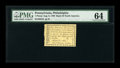 Colonial Notes:Pennsylvania, Pennsylvania Bank of North America August 6, 1789 1d PMG Choice Uncirculated 64....