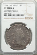 1798 $1 Large Eagle, Pointed 9 -- Obv Scratched -- NGC Details. XF. Mintage 327,536. ...(PCGS# 6873)
