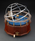 Clocks & Mechanical, A B. Greig Wood and Brass Orrery, Australia, 20th century. Marks: MAKER B. GREIG MELBOURNE AUSTRALIA. 13 x 14 x 12 inche...