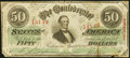 Confederate Notes:1863 Issues, T57 $50 1863 PF-6 Cr. 411 Very Fine.. ...