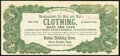 Obsoletes By State:Indiana, New Castle, IN- Boston Clothing Store Advertising Note ND (ca. 1870s) Extremely Fine.. ...