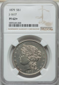 1879 $1 Goloid Metric Dollar, Judd-1617, Pollock-1813, R.4, PR62+ NGC. NGC Census: (15/33 and 1/1+). PCGS Population: (3...