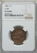 1855 P1C Flying Eagle Cent, Judd-168 Original, Pollock-193, R.4, PR53 NGC. NGC Census: (4/70). PCGS Population: (0/132)...