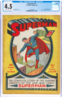 Superman #1 (DC, 1939) CGC VG+ 4.5 Cream to off-white pages