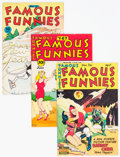 Golden Age (1938-1955):Miscellaneous, Famous Funnies Group of 5 (Eastern Color, 1945-50).... (Total: 5 Comic Books)