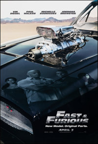 """Fast & Furious (Universal, 2009). Rolled, Very Fine+. One Sheet (27"""" X 40"""") DS Advance. Action"""