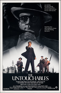 """The Untouchables (Paramount, 1987). Rolled, Very Fine/Near Mint. One Sheet (27"""" X 41"""") SS. Crime"""