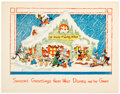 Memorabilia:Disney, Walt Disney Season's Greetings Card (Walt Disney, 1935) Condition: NM-....