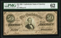 Confederate Notes:1864 Issues, T66 $50 1864 PF-11 Cr. 500 PMG Uncirculated 62.. ...