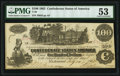 Confederate Notes:1862 Issues, T39 $100 1862 PF-13 Cr. 294 PMG About Uncirculated 53.. ...