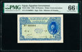 World Currency, Egypt Egyptian Government 10 Piastres 1940 Pick 168a Serial Number 4 PMG Gem Uncirculated 66 EPQ.. ...