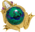 Estate Jewelry:Brooches - Pins, Diamond, Multi-Stone, Platinum, Gold Brooch, David Webb. ...