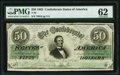 Confederate Notes:1862 Issues, T50 $50 1862 PF-13 Cr. 360 PMG Uncirculated 62.. ...