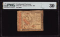 Colonial Notes:Continental Congress Issues, Continental Currency January 14, 1779 $30 PMG Very Fine 30.. ...