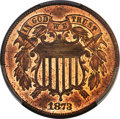 1873 2C Closed 3 PR64 Red and Brown PCGS....(PCGS# 3652)