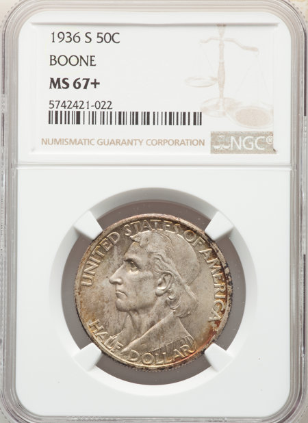 1936-S 50C Boone, MS NGC Plus 67 NGC