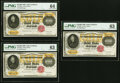 Large Size:Gold Certificates, Fr. 1225h $10,000 1900 Gold Certificates Three Consecutive Examples PMG Graded Choice Uncirculated 63 (2); Choice Uncirculated... (Total: 3 notes)