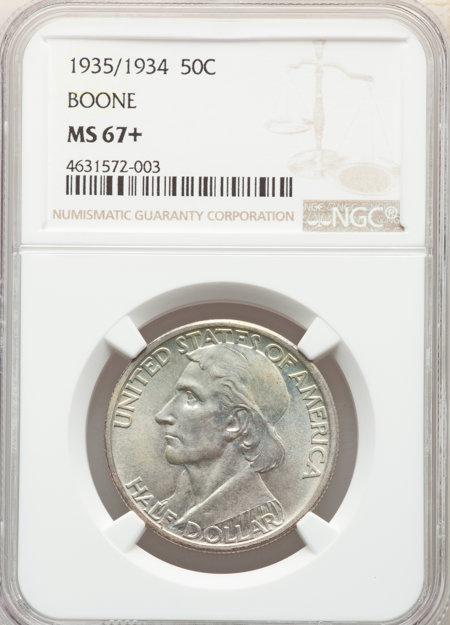 1935/34 50C Boone, MS NGC Plus 67 NGC