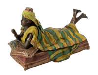 A Large Austrian Erotic Cold Painted Polychrome Bronze Figure 16-1/2 x 27 x 12 inches (41.9 x 68.6 x 30.5 cm) <...