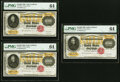 Large Size:Gold Certificates, Fr. 1225h $10,000 1900 Gold Certificates Three Consecutive Examples PMG Choice Uncirculated 64.. ... (Total: 3 notes)