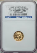 2008-W Gold Buffalo Proof Set, Early Releases, PR70 Ultra Cameo NGC. Includes: $5 tenth-ounce, $10 quarter-ounce, $25 ha...