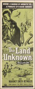 "Movie Posters:Science Fiction, The Land Unknown (Universal International, R-1964). Folded, Fine/Very Fine. Insert (14"" X 36""). Science Fiction.. ..."