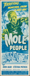 """Movie Posters:Science Fiction, The Mole People (Universal International, R-1964). Rolled, Very Fine/Near Mint. Insert (14"""" X 36"""") Reynold Brown Artwork. Sc..."""