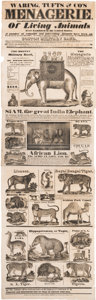Miscellaneous:Broadside, Spectacular Circus Menagerie Animal Broadside From 1834.... (Total: 2 Items)
