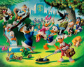 Memorabilia:Disney, Carl Barks Holiday in Duckburg Signed Limited Edition Lithograph Print #215/345 (Another Rainbow, 1989).... (Total: 2 Items)