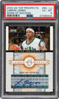Basketball Cards:Singles (1980-Now), 2003 Upper Deck Top Prospects (Signs of Success) LeBron James #SS-LJ PSA EX-MT 6. ...