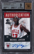 Basketball Cards:Singles (1980-Now), 2008-09 SP Rookie Threads Authorization Michael Jordan #AU-MJ BGS Mint 9, Auto 10....